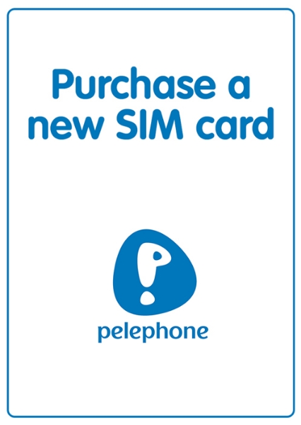 "Picture of Purchase a new ""Pelephone"" local SIM card. SIM is not prepaid."