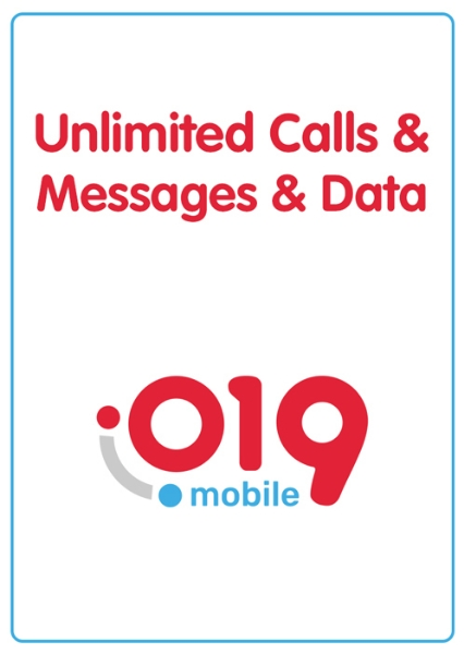 Picture of 019 unlimited calls and messages + 30GB Data