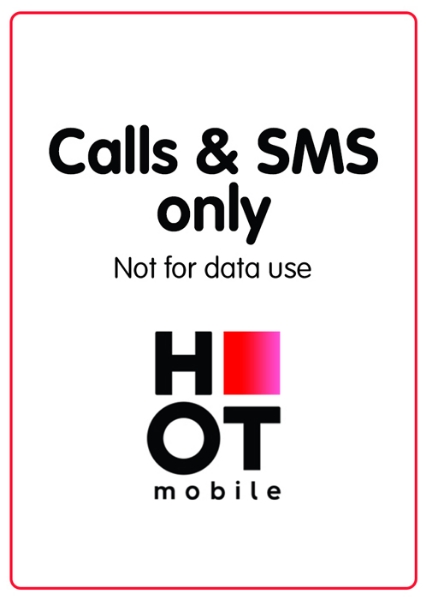 Picture of Hot Mobile 50 NIS charge. Valid for a180 days..